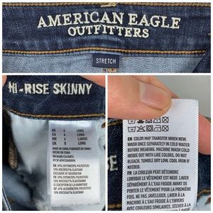 American Eagle Outfitters Jeans - American Eagle Hi-Rise Skinny Jeans Sz 4 Long